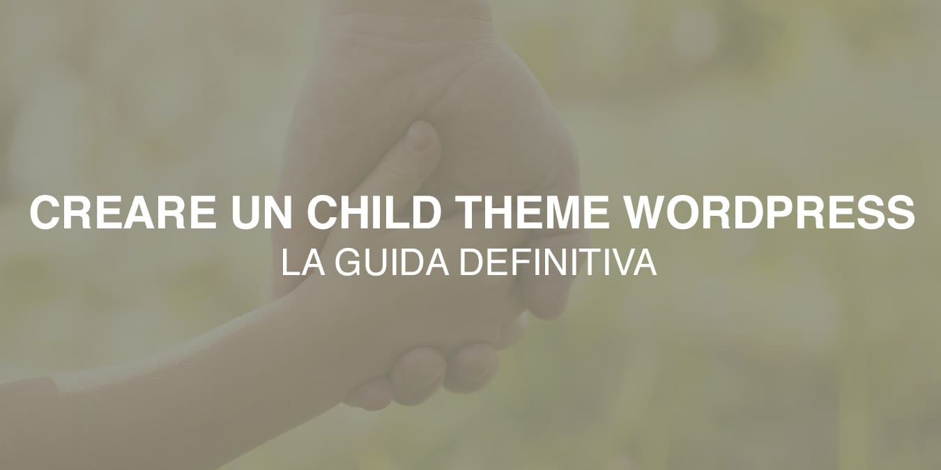 creare child theme Wordpress