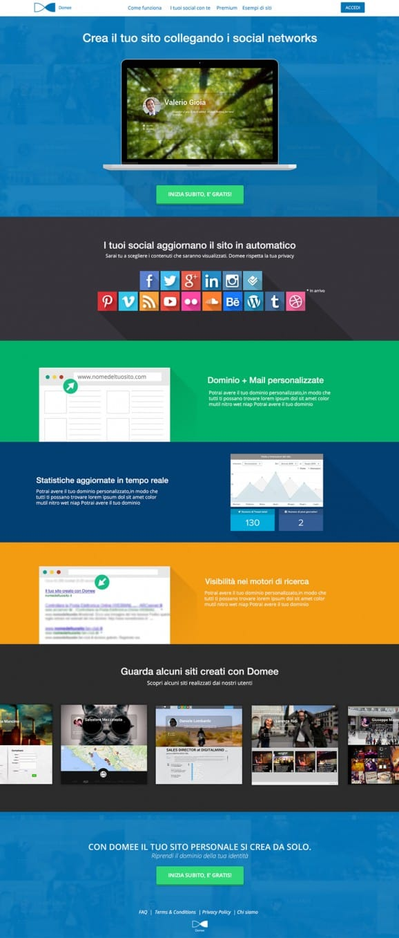 Domee – Homepage
