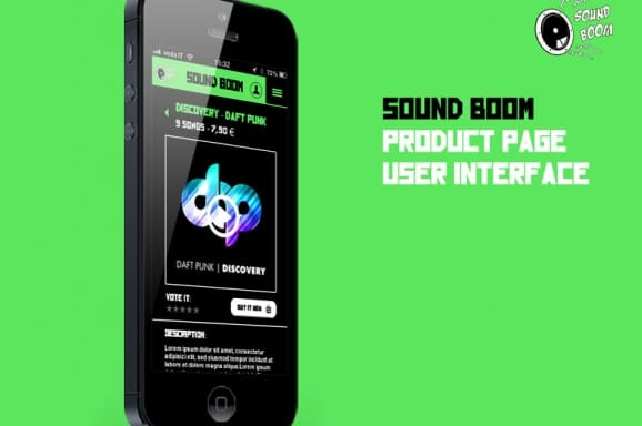 SoundBoom – App Design