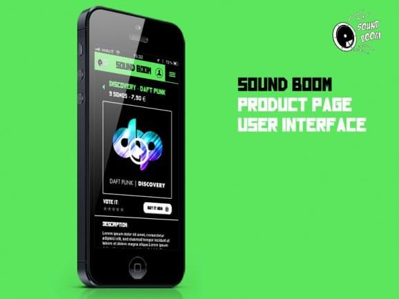 SoundBoom – App Design