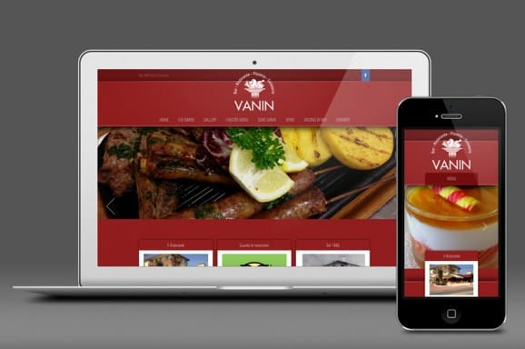Website design – Vanin Restaurant