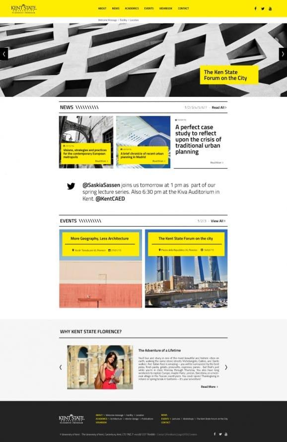 Kent State University of Florence – Homepage Proposal