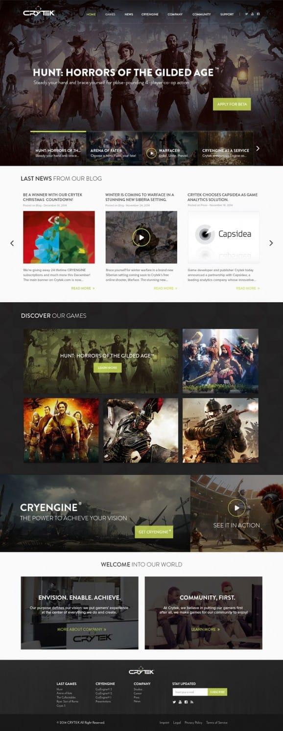 Crytek.com – Homepage Redesign