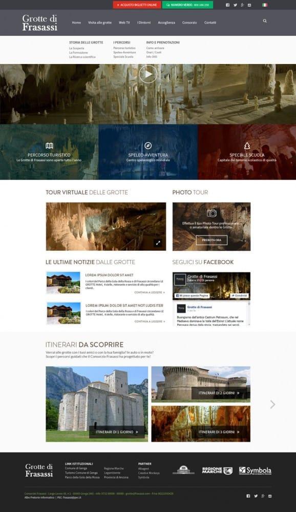 Grotte di Frasassi – Website Redesign